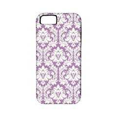 White On Lilac Damask Apple Iphone 5 Classic Hardshell Case (pc+silicone) by Zandiepants