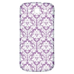 White On Lilac Damask Samsung Galaxy S3 S Iii Classic Hardshell Back Case by Zandiepants