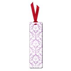 White On Lilac Damask Small Bookmark by Zandiepants