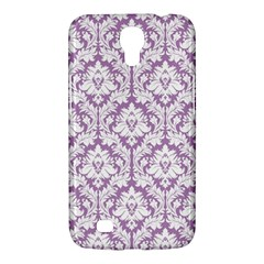 White On Lilac Damask Samsung Galaxy Mega 6 3  I9200 Hardshell Case by Zandiepants