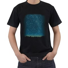 There Is Somebody Out There! Men s T Shirt (black)