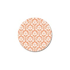 White On Orange Damask Golf Ball Marker 10 Pack by Zandiepants