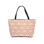 Nectarine Orange Damask Pattern Classic Shoulder Handbag Front