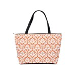 Nectarine Orange Damask Pattern Classic Shoulder Handbag Back