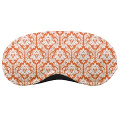Nectarine Orange Damask Pattern Sleeping Mask by Zandiepants