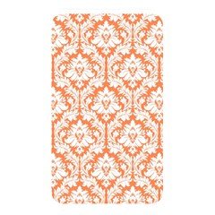 White On Orange Damask Memory Card Reader (rectangular) by Zandiepants