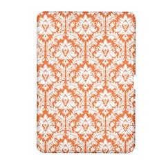White On Orange Damask Samsung Galaxy Tab 2 (10 1 ) P5100 Hardshell Case  by Zandiepants