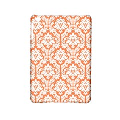 White On Orange Damask Apple Ipad Mini 2 Hardshell Case by Zandiepants