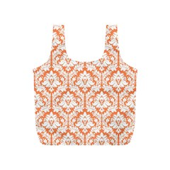 Nectarine Orange Damask Pattern Full Print Recycle Bag (s) by Zandiepants