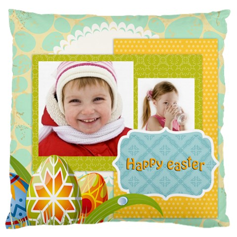 Easter By Easter   Large Cushion Case (one Side)   09vjjmp5ywp7   Www Artscow Com Front