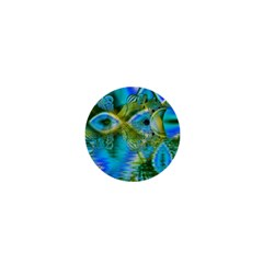 Mystical Spring, Abstract Crystal Renewal 1  Mini Button Magnet by DianeClancy