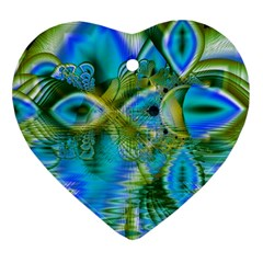 Mystical Spring, Abstract Crystal Renewal Heart Ornament by DianeClancy