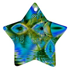 Mystical Spring, Abstract Crystal Renewal Star Ornament by DianeClancy