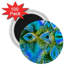 Mystical Spring, Abstract Crystal Renewal 2 25  Button Magnet (100 Pack) by DianeClancy