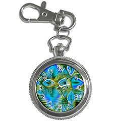 Mystical Spring, Abstract Crystal Renewal Key Chain Watch by DianeClancy