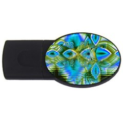 Mystical Spring, Abstract Crystal Renewal 2gb Usb Flash Drive (oval) by DianeClancy