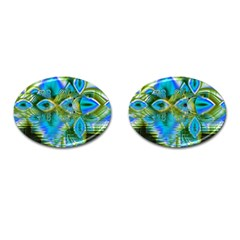 Mystical Spring, Abstract Crystal Renewal Cufflinks (oval) by DianeClancy