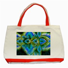 Mystical Spring, Abstract Crystal Renewal Classic Tote Bag (red) by DianeClancy