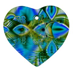 Mystical Spring, Abstract Crystal Renewal Heart Ornament (two Sides) by DianeClancy
