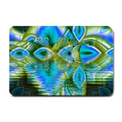 Mystical Spring, Abstract Crystal Renewal Small Door Mat by DianeClancy