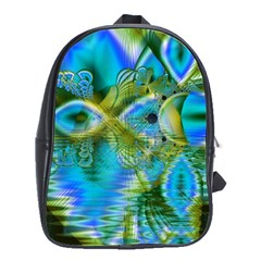 Mystical Spring, Abstract Crystal Renewal School Bag (large) by DianeClancy