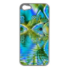 Mystical Spring, Abstract Crystal Renewal Apple Iphone 5 Case (silver) by DianeClancy