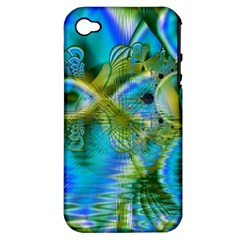 Mystical Spring, Abstract Crystal Renewal Apple Iphone 4/4s Hardshell Case (pc+silicone) by DianeClancy