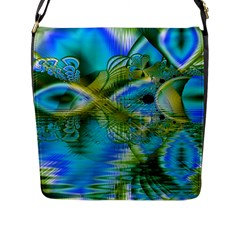 Mystical Spring, Abstract Crystal Renewal Flap Closure Messenger Bag (large) by DianeClancy