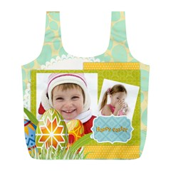 Easter By Easter   Full Print Recycle Bag (l)   Bhuawv26u2ph   Www Artscow Com Back
