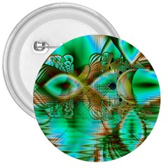 Spring Leaves, Abstract Crystal Flower Garden 3  Button by DianeClancy