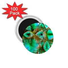 Spring Leaves, Abstract Crystal Flower Garden 1 75  Button Magnet (100 Pack) by DianeClancy