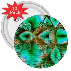 Spring Leaves, Abstract Crystal Flower Garden 3  Button (10 Pack) by DianeClancy