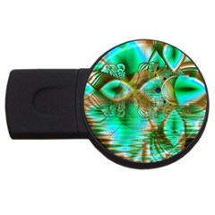 Spring Leaves, Abstract Crystal Flower Garden 4gb Usb Flash Drive (round) by DianeClancy