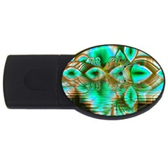 Spring Leaves, Abstract Crystal Flower Garden 4gb Usb Flash Drive (oval) by DianeClancy