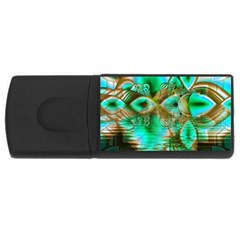 Spring Leaves, Abstract Crystal Flower Garden 4gb Usb Flash Drive (rectangle) by DianeClancy