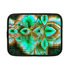 Spring Leaves, Abstract Crystal Flower Garden Netbook Sleeve (small) by DianeClancy