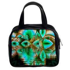 Spring Leaves, Abstract Crystal Flower Garden Classic Handbag (two Sides) by DianeClancy