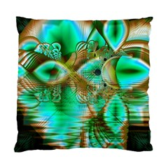 Spring Leaves, Abstract Crystal Flower Garden Cushion Case (two Sided)  by DianeClancy