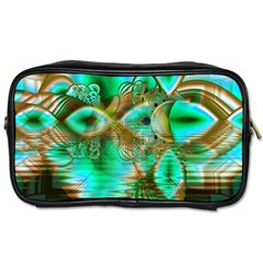 Spring Leaves, Abstract Crystal Flower Garden Travel Toiletry Bag (one Side) by DianeClancy