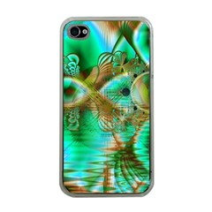 Spring Leaves, Abstract Crystal Flower Garden Apple Iphone 4 Case (clear) by DianeClancy