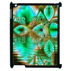 Spring Leaves, Abstract Crystal Flower Garden Apple Ipad 2 Case (black) by DianeClancy