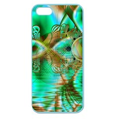 Spring Leaves, Abstract Crystal Flower Garden Apple Seamless Iphone 5 Case (color) by DianeClancy