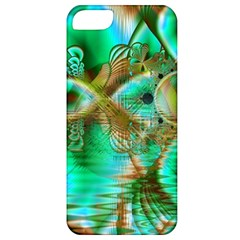 Spring Leaves, Abstract Crystal Flower Garden Apple Iphone 5 Classic Hardshell Case by DianeClancy