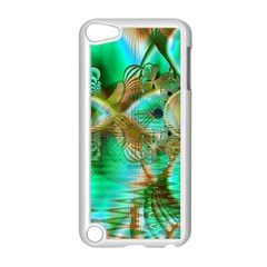 Spring Leaves, Abstract Crystal Flower Garden Apple Ipod Touch 5 Case (white)
