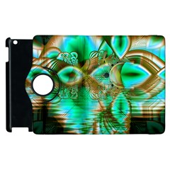 Spring Leaves, Abstract Crystal Flower Garden Apple Ipad 3/4 Flip 360 Case by DianeClancy