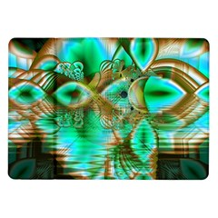 Spring Leaves, Abstract Crystal Flower Garden Samsung Galaxy Tab 10 1  P7500 Flip Case by DianeClancy