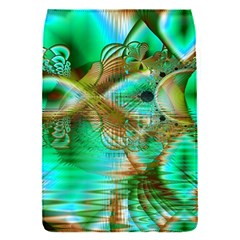 Spring Leaves, Abstract Crystal Flower Garden Removable Flap Cover (small) by DianeClancy