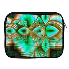 Spring Leaves, Abstract Crystal Flower Garden Apple Ipad Zippered Sleeve by DianeClancy