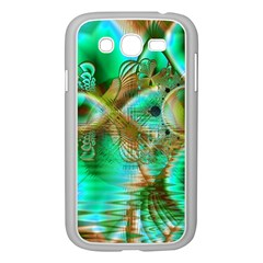 Spring Leaves, Abstract Crystal Flower Garden Samsung Galaxy Grand Duos I9082 Case (white) by DianeClancy