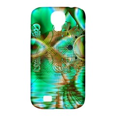 Spring Leaves, Abstract Crystal Flower Garden Samsung Galaxy S4 Classic Hardshell Case (pc+silicone) by DianeClancy